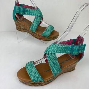 Jessica Simpson Braided Wedge Sandals Sz 3M